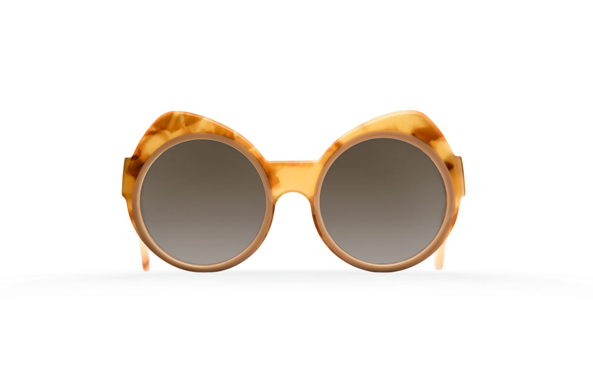 FAKBYFAK Designer sunglasses Orphium Model 3. Sun. Misty Tobacco & Beige Brown Code: 18/03/11