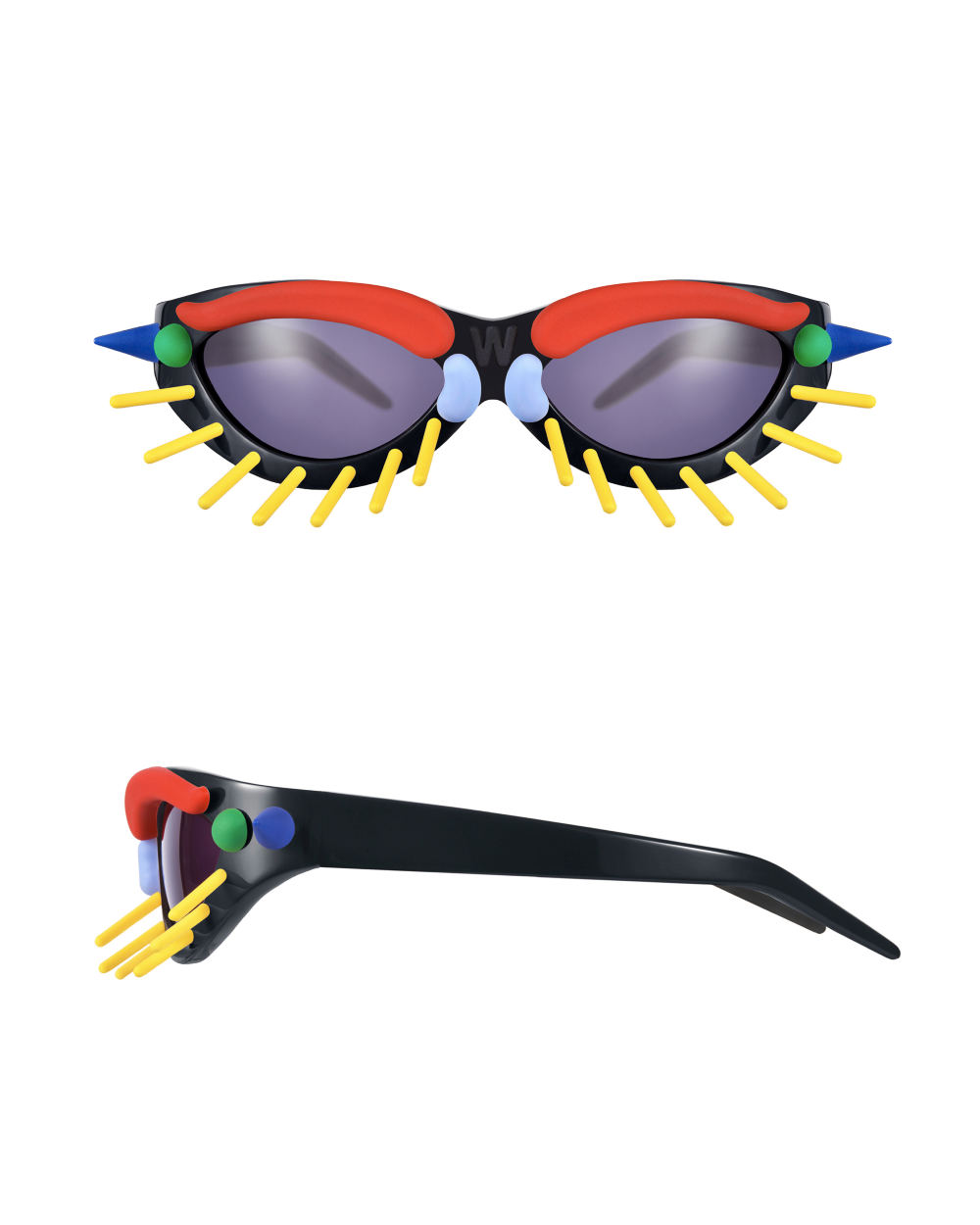 Toy Glasses Model 1. Black with coloured pins