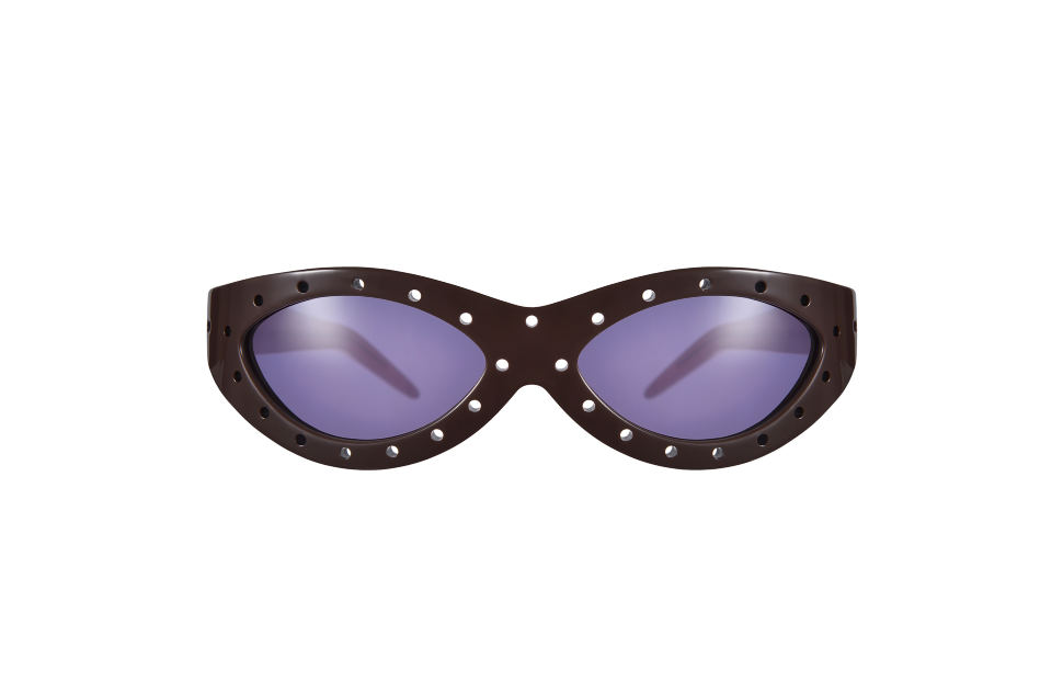 Toy Glasses Model 1. Dark brown with coloured pins