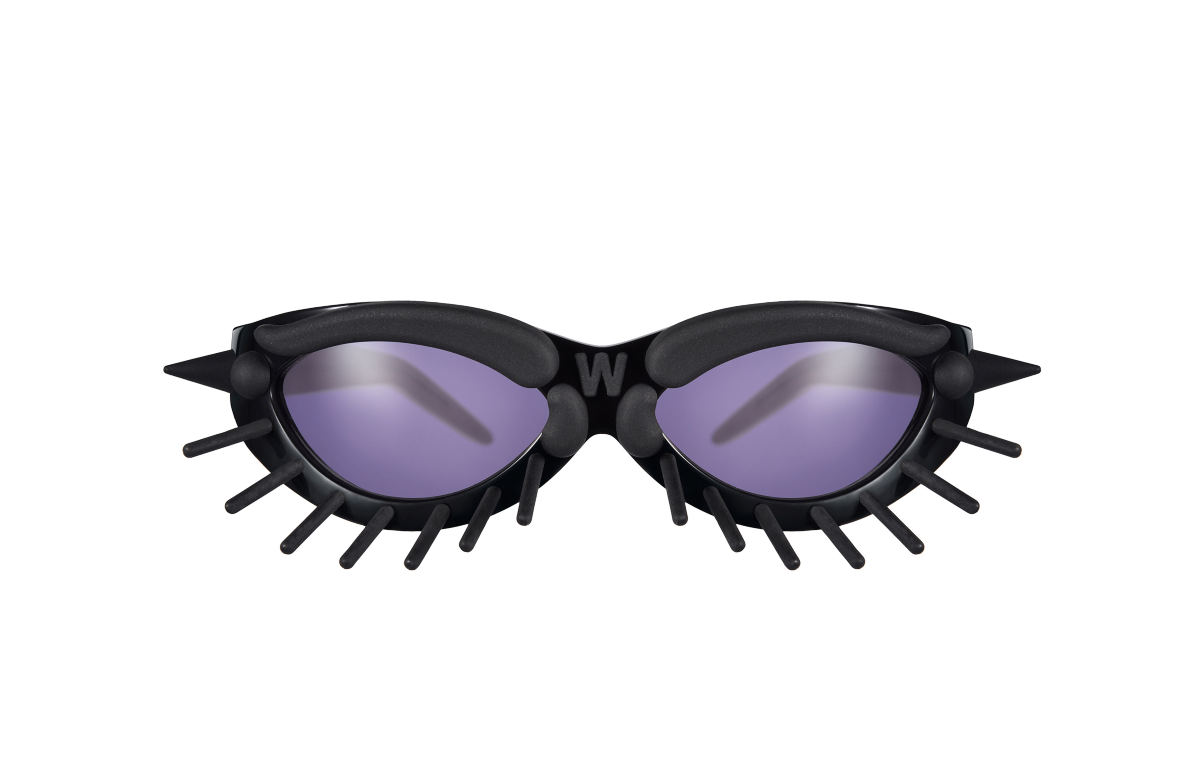 FAKBYFAK x Walter Van Beirendonck Couture sunglasses Toy Glasses Model 1. Black with black pins Code: 09/01/05