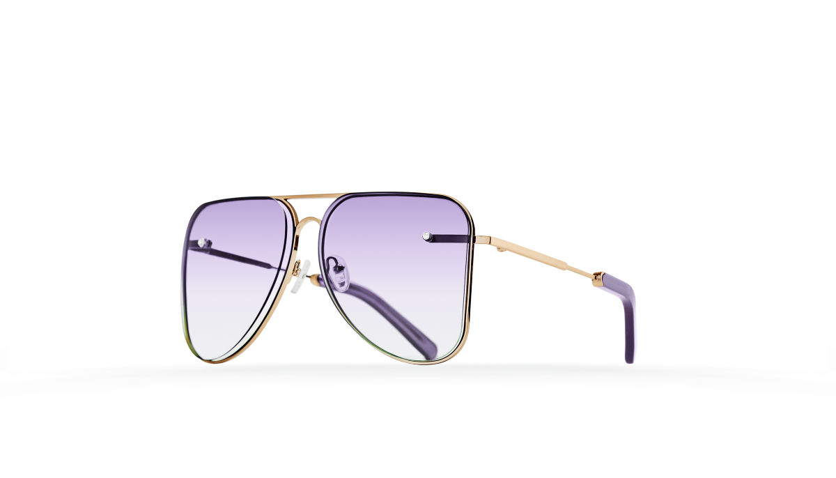 FAKBYFAK Fashion sunglasses Lilac gradient aviator Model 1. Golden metal frame Code: 07/01/042