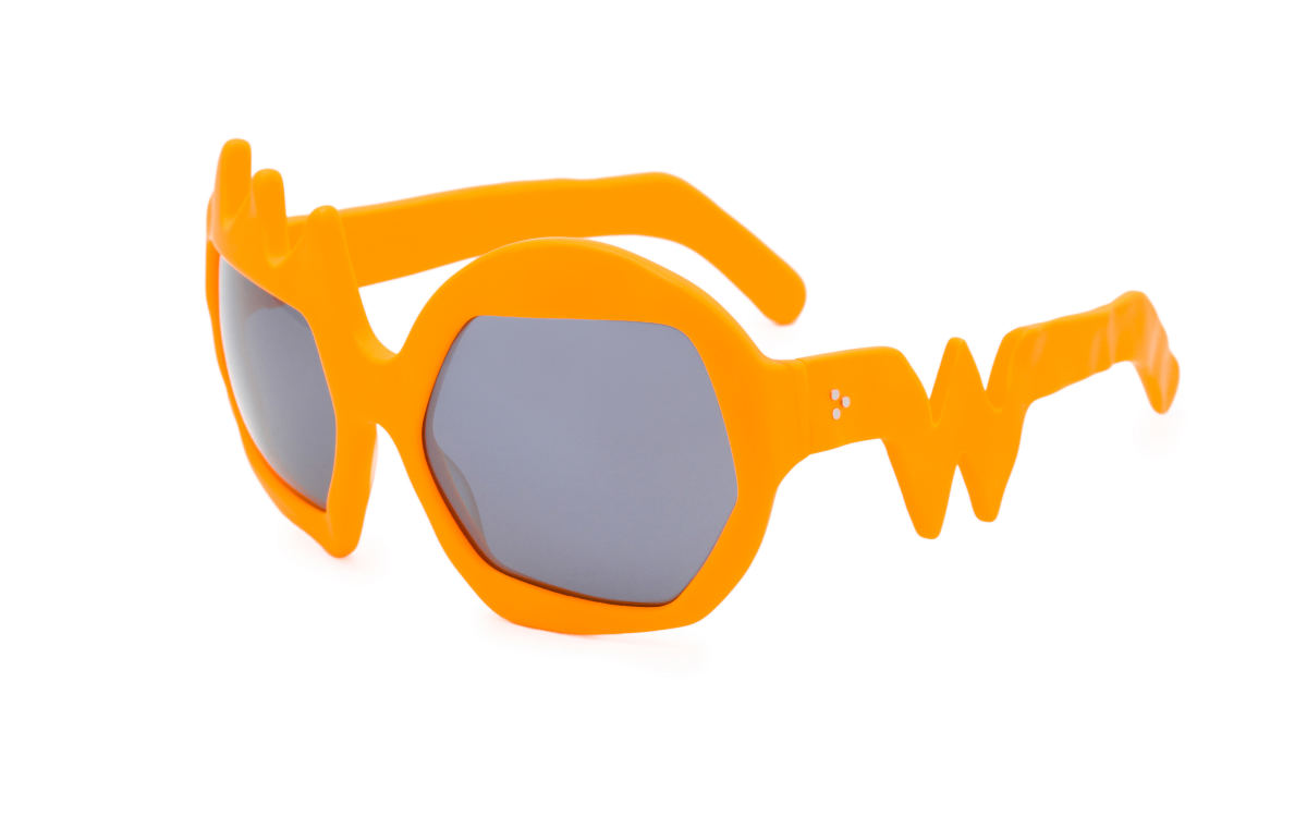 FAKBYFAK x Walter Van Beirendonck Couture sunglasses Lightning Sunglasses. Neon Orange Code: 09/11/08