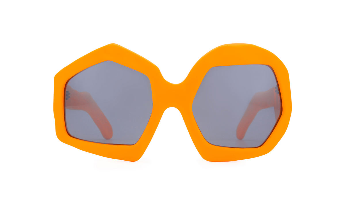 FAKBYFAK x Walter Van Beirendonck Couture sunglasses Thunder Sunglasses. Neon Orange Code: 09/12/08