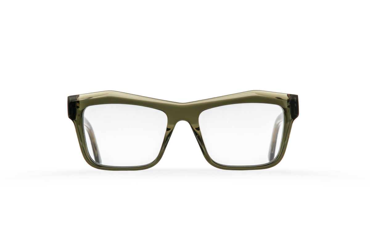 FAKBYFAK Designer glasses Fakfarer Model 1. Optic. Green Grey Crystal Code: 19/01/07