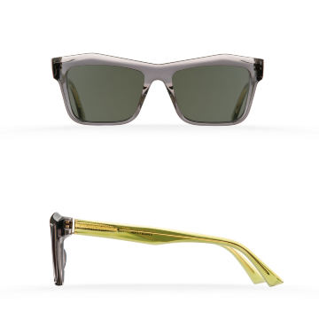 Fakfarer Model 1. Sun. Dark Grey Crystal + Crystal Green