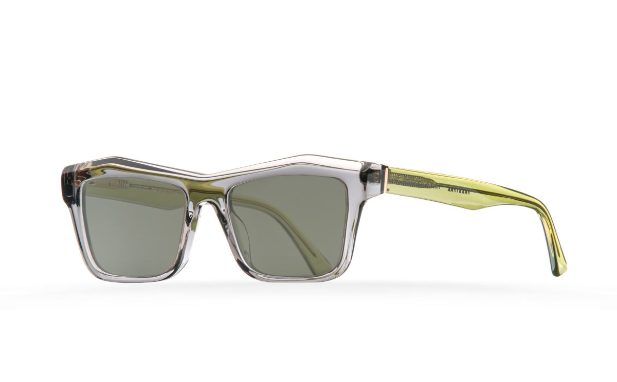FAKBYFAK Designer sunglasses Fakfarer Model 1. Sun. Dark Grey Crystal + Crystal Green Code: 19/01/12