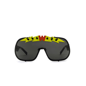 BlitZ Solar Shield Sunglasses. Black & Neon Lightning