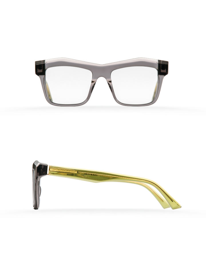 Fakfarer Model 2. Optic. Dark Grey Crystal + Crystal Green