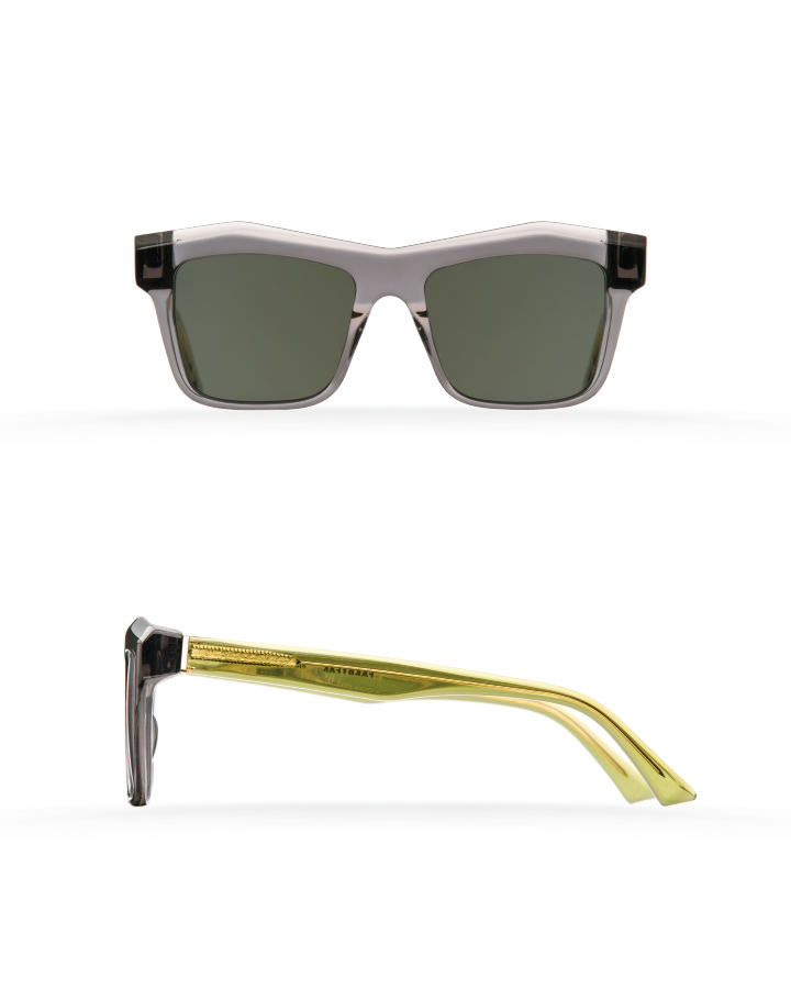 Fakfarer Model 2. Sun. Dark Grey Crystal + Crystal Green