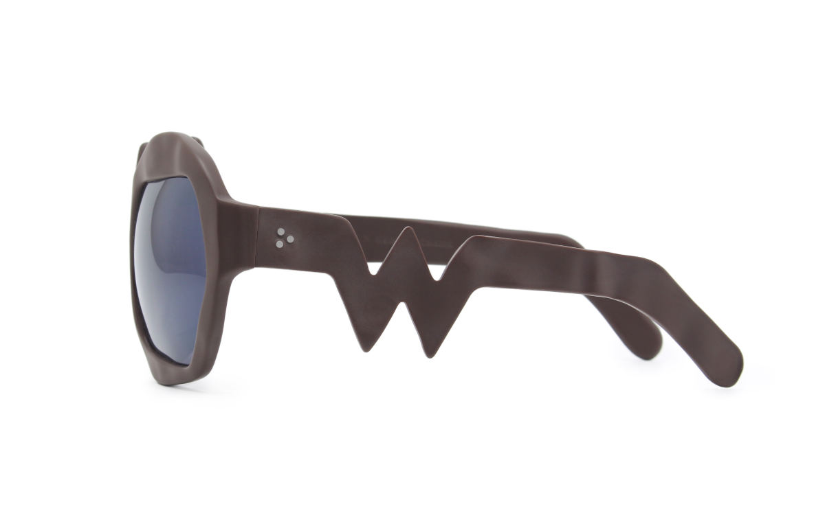 FAKBYFAK x Walter Van Beirendonck Couture sunglasses Lightning Sunglasses. Brown Code: 09/11/02