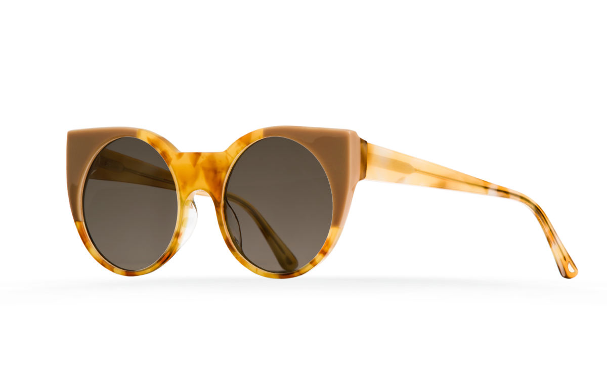 FAKBYFAK Designer sunglasses Orphium Model 1. Sun. Misty Tobacco & Beige Brown Code: 18/01/11