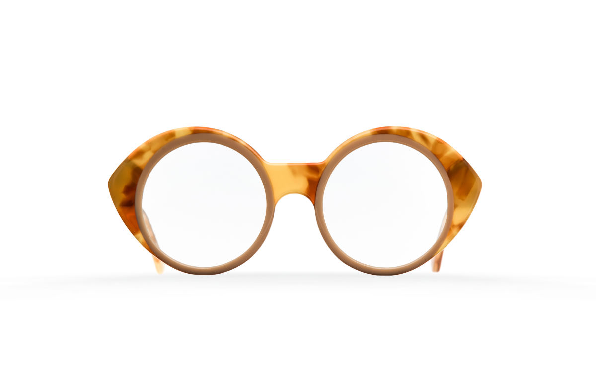 FAKBYFAK Designer glasses Orphium Model 2. Optic. Misty Tobacco & Beige Brown Code: 18/02/01
